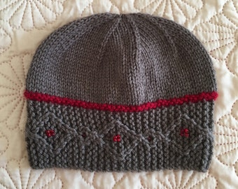 "Instant Download #234 Knitting Pattern Hat ""Jocelyn"""