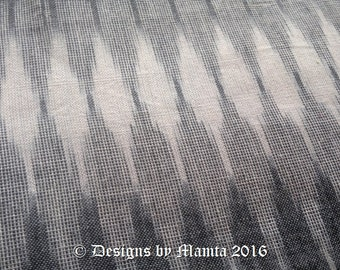 Grey Ikat Fabric By The Yard, Indian Double Ikat Cotton Fabric, Indian Fabric, Handloom Fabric, Indian Ikat Cotton Fabric, HandWoven Fabric