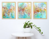 Abstract Triptych Print Set - Set of 3 Prints - Instant Digital Download - Abstract Triptych Painting Prints - Modern Home Decor - 11x14