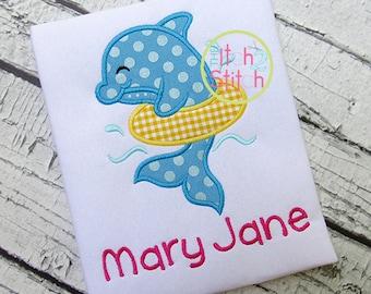 SAMPLE SALE Dolphin Shirt Personalized  - Read Description for Details