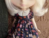 Babydoll dress for Blythe - Sweet Things / Navy