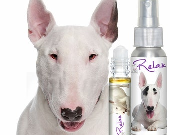Is Your BULL Terrier Terrified of Thunder? Fireworks? The Blissful Dog RELAX Aromatherapy Essential Oils for Dog Stress and OCD Tendencies