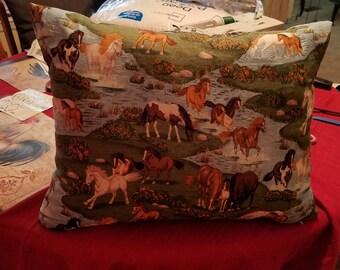 Horse Toss Pillow