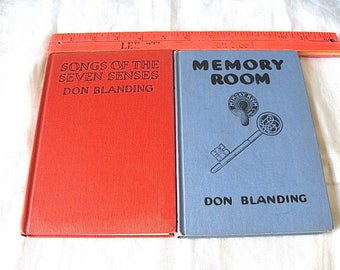 Two Don Blanding Signed Books Memory Room and Songs of the Seven Senses Read The Full Details Please
