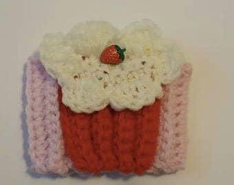 crochet cupcake cozy coffee cup