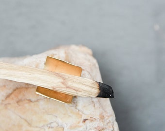 Palo Santo Holder - Brass holder for incense cone rings palo santo wood