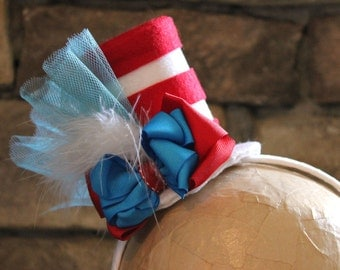 Dr Seuss, Dr Seuss Inspired Hat, Cat in the Hat Top Hat Headband, Seussical