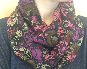 Midnight flower Infinity Scarf