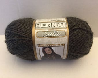 Bernat Satin Yarn - Forest Mist Heather