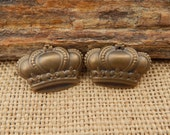 Bronze Finish Crown Charms  ~  Bronze Finish Crown Jewelry Components  ~  Bronze Crown Jewelry Supply  ~  Bronze Crown Embellishments  ~