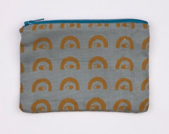 Sneaky Eyes Cotton Coin Purse Pouch