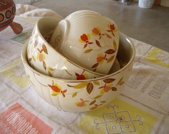 Jewel Tea Autumn Leaf Bowl Set
