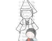 PI 095 digital stamp, digi stamp, princess, princess girl, crafters, cute princess