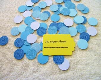 Shades of Blue Confetti-Wedding Confetti-Gender Reveal Confetti- Shower Decoration-Party Decor-Table Scatter