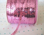 Light Pink Sequin Trim, 6 mm - 5 Yards