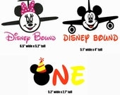 Reserved Disney Bound-Mickey; Disney Bound-Minnie (neon pink bow) & One iron on vinyl transfers