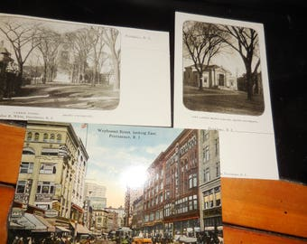 RPPC   Vintage Rhode Island Postcards  Brown University  Downtown Providence