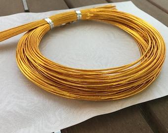 Japanese Mizuhiki Cords in Gold 20 x 90cm length cords