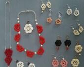 January sale Large batch crochet jewelry