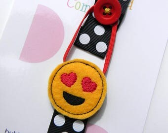 Emoji Elastic Ribbon Bookmark - Day Planner - Kids Bookmark - Bookmark Day Planner - FiloFax - Emoji Bookmark