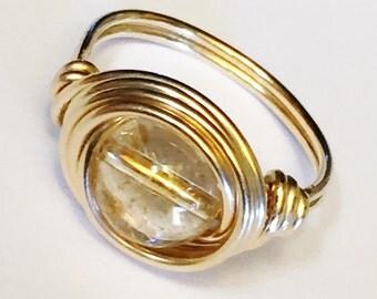 Citrine Ring  Citrine Gemstone  Gold Citrine Ring  14K Gold Filled Ring  Citrine Jewelry
