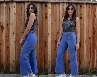 Vintage 70s High Waist BELL BOTTOM Jeans S