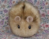 Four Happy Hamsters Handmade Plush Toys RESERVED