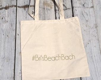 ADD Custom Text or Hashtag to any order - Wedding or Bachelorette Party Reusable Canvas Totes