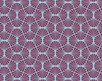 Joel Dewberry Fabric By The Yard - Heirloom - Empire Weave in Amethyst - Free Spirit Fabrics- Quilter's Cotton