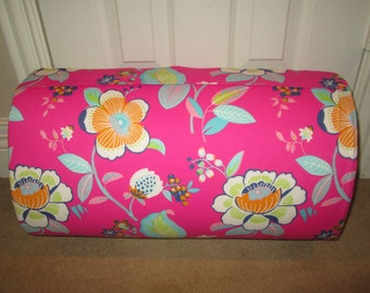 MONOGRAMMED Children THICK COMFY Nap Mat PreSchool Boho Floral with Saltwater Dotted Minky Blanket and  Attached Pillow