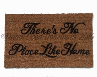 There's no place like home- L. Frank Baum Wizard doormat