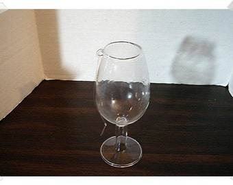 Wine Glass Christmas Ornament/ Clear Glass /Craft Supplies*
