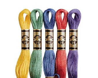 DMC Threads/Floss Skeins, Pick Your Own Colours  5,10,15,20,25 cross stitch