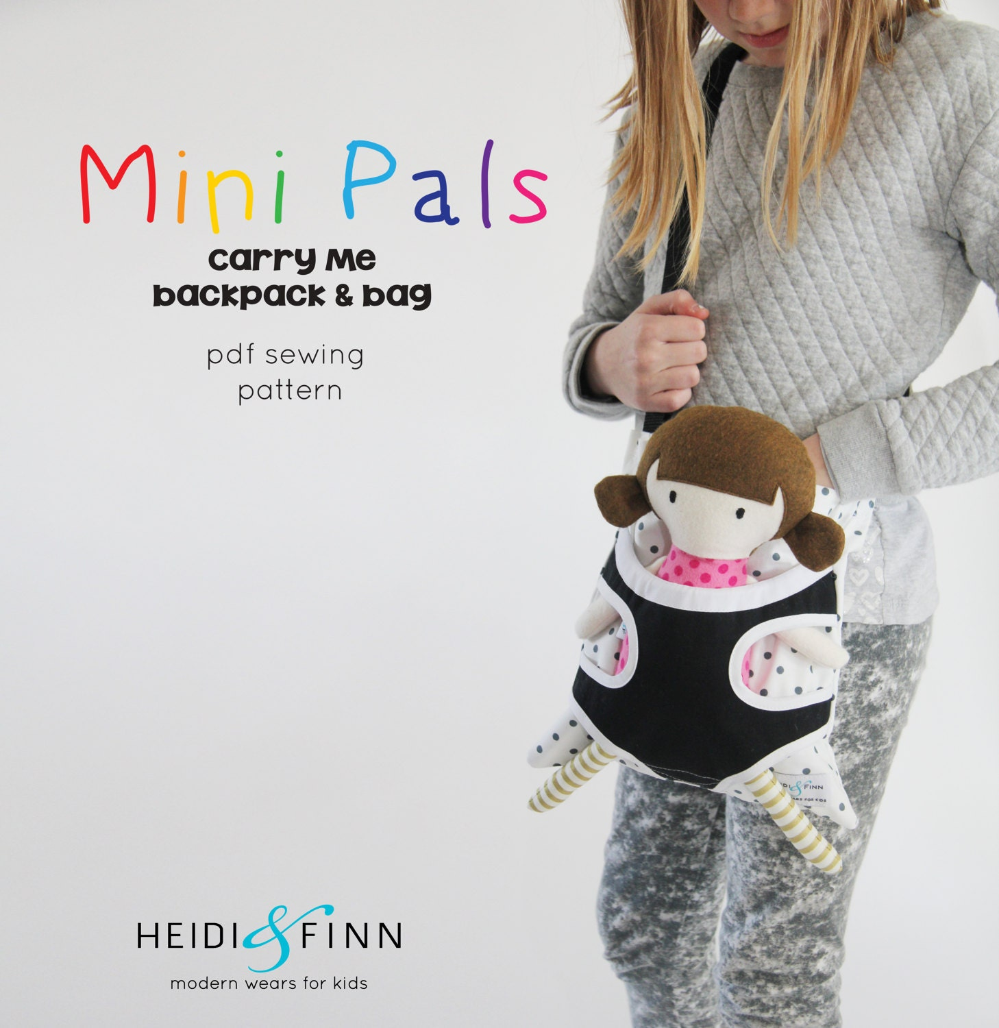 Mini pals carry me backpack messesnger bag soft rag doll sewing this is a digital file jeuxipadfo Choice Image