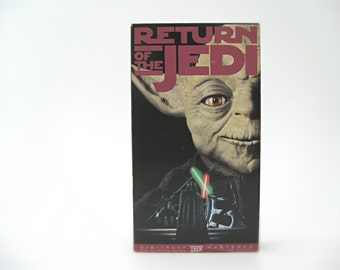 Star Wars Return of the Jedi VHS Tape, 1995, Yoda, Han Solo, Jabba the Hutt, Darth Vader, Skywalker. Original Movie Cut, Non-Special Edition