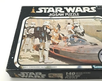 Vintage Star Wars Jigsaw Puzzle, Complete with Original Box - 1977 Star Wars Collectible from A New Hope - Star Wars Valentines Gift for Him
