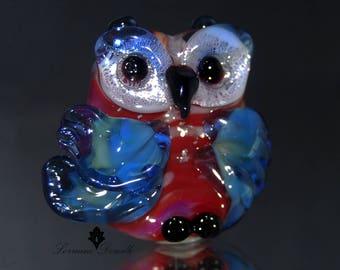 Celebration Lampwork Owl Focal :   - SRA Lorraine Dowdle