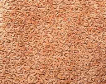 Upholstery Fabric, Beautiful Fawn Brown, Small Swirly Design, Selling By the Yard