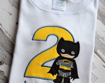 Batman Themed Birthday Shirt or Onesie