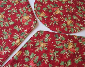 red and gold wedge placemats christmas wedge placemats gold snowflake wedge placemats red and gold bells