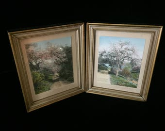 Two Beautiful Wallace Nutting Framed Colorized Photos