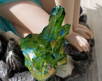 Emerald Green Aura Quartz - Gemstone of Success