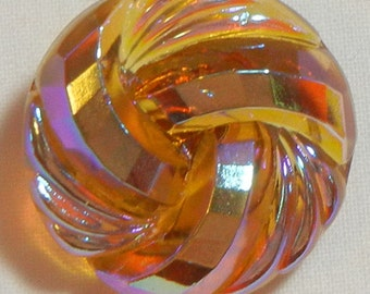 Knot Czech Glass Button
