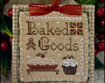 SALE** Baked Goods - Cross Stitch Pattern by LITTLE HOUSE Needleworks - Christmas Ornament - Cupcake - Pie