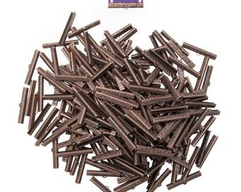 500pcs.  40mm  ( 1  9/16 inch ) Antique Copper Ribbon Clamp End Crimps - Artisan Series