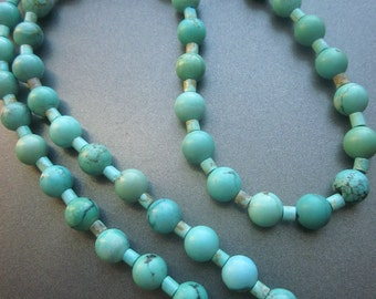 Turquoise Magnesite Beaded Necklace Southwest Jewelry