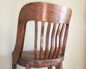 Antique Wooden Office / Desk Chair. Needs Refinishing.