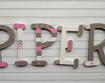 Nursery Letters - Nursery Decor - Name Letters - Baby Name Letters - Whimsical Font - Baby Shower Gifts