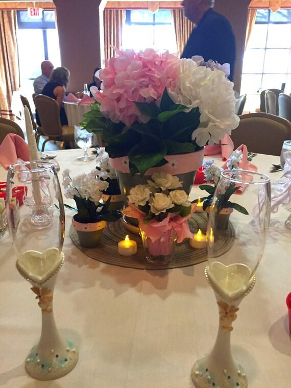 Painted Flower Pots Wedding Favors Small Flower Pots Set