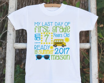Last Day of First Grade Outfit - Boys 1st Grade Graduate Stats Shirt - Boys School Tshirt - My Last Day of First Grade Outfit for Boys